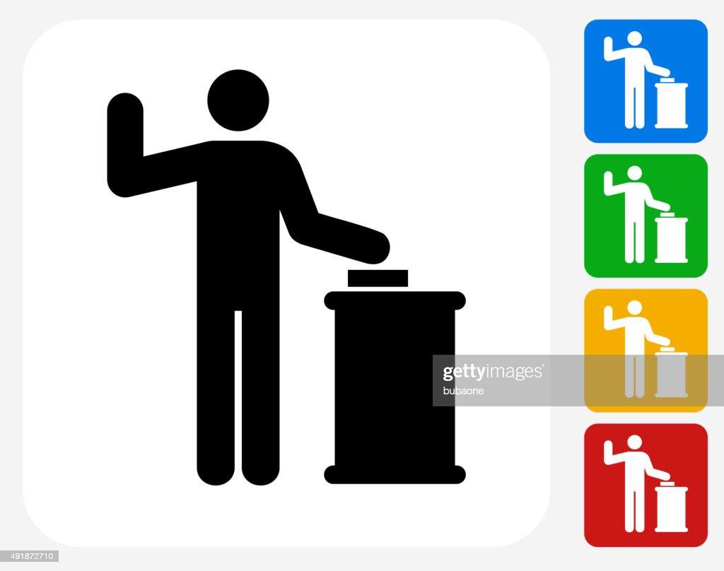 Court Oath Icon Flat Graphic Design : Vector Art