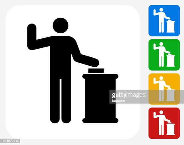court oath icon flat graphic design - assertiveness stock illustrations, clip art, cartoons, & icons