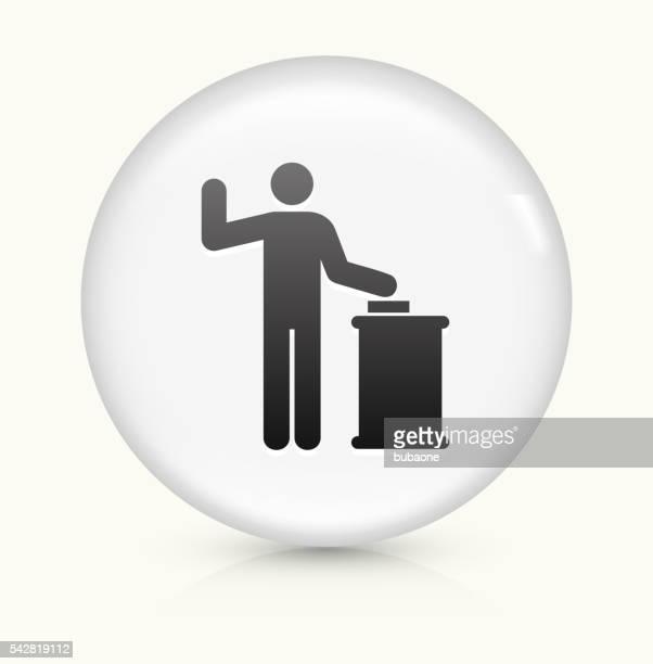 court oath icon on white round vector button - criação digital stock illustrations