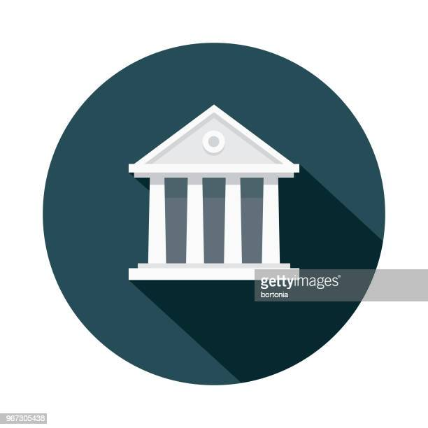 courthouse flat design crime & punishment icon - politics stock illustrations