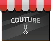 Couture window vector icon