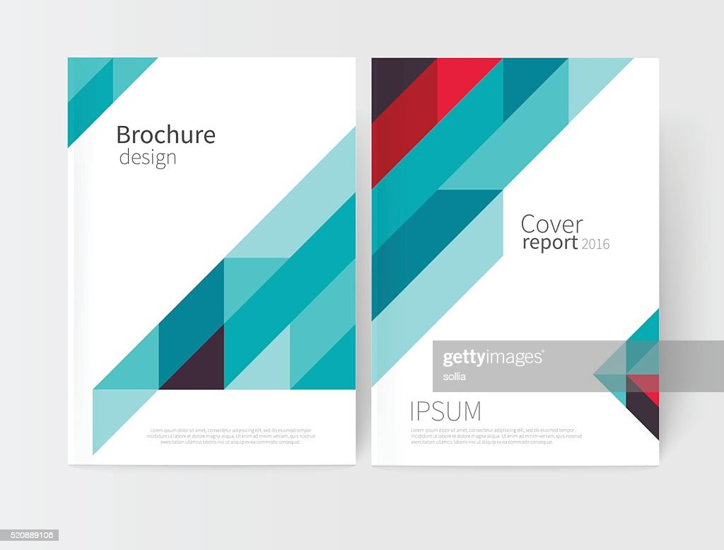 Cover design. Brochure, flyer, poster, annual report cover template.