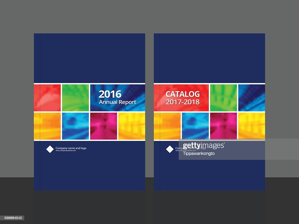 Cover design for annual report anad catalog.