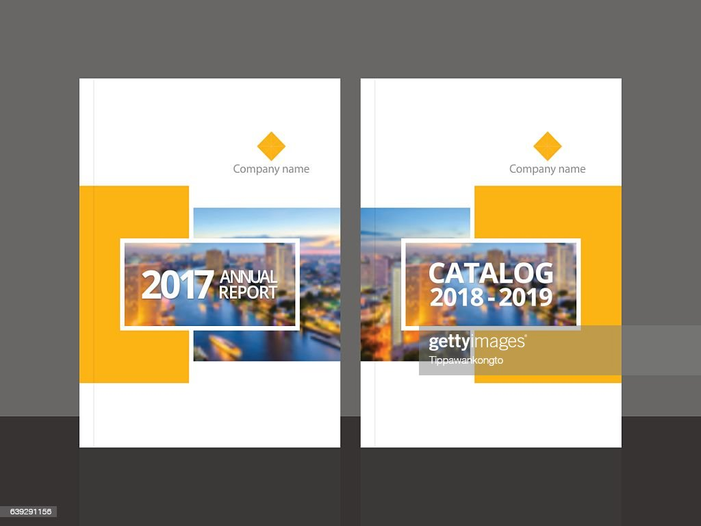 Cover design for annual report and business catalog