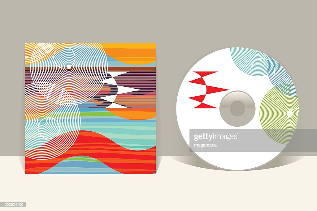 CD cover design template. Abstract pattern graphics. Editable design template