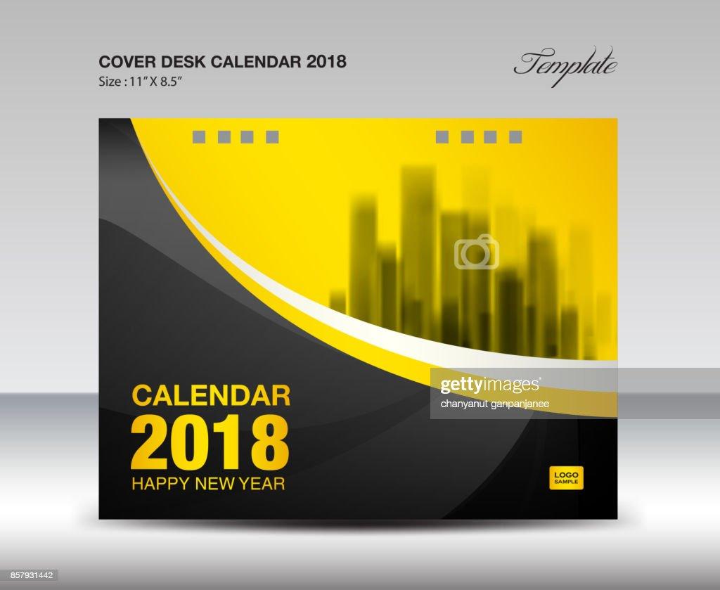 Decken Schreibtisch 2018 Jahr Kalendervorlage Horizontale Papier ...