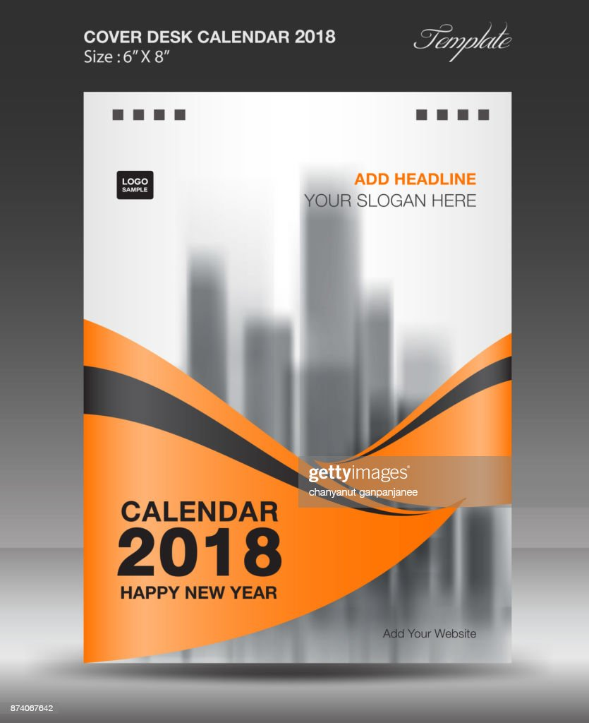cover desk calendar 2018 year template vertical paper business