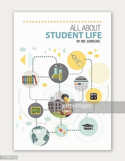 abdeckung für educational institute - hochschulstudium stock-grafiken, -clipart, -cartoons und -symbole