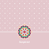 Cover, Oriental-style card. Cute picture dots