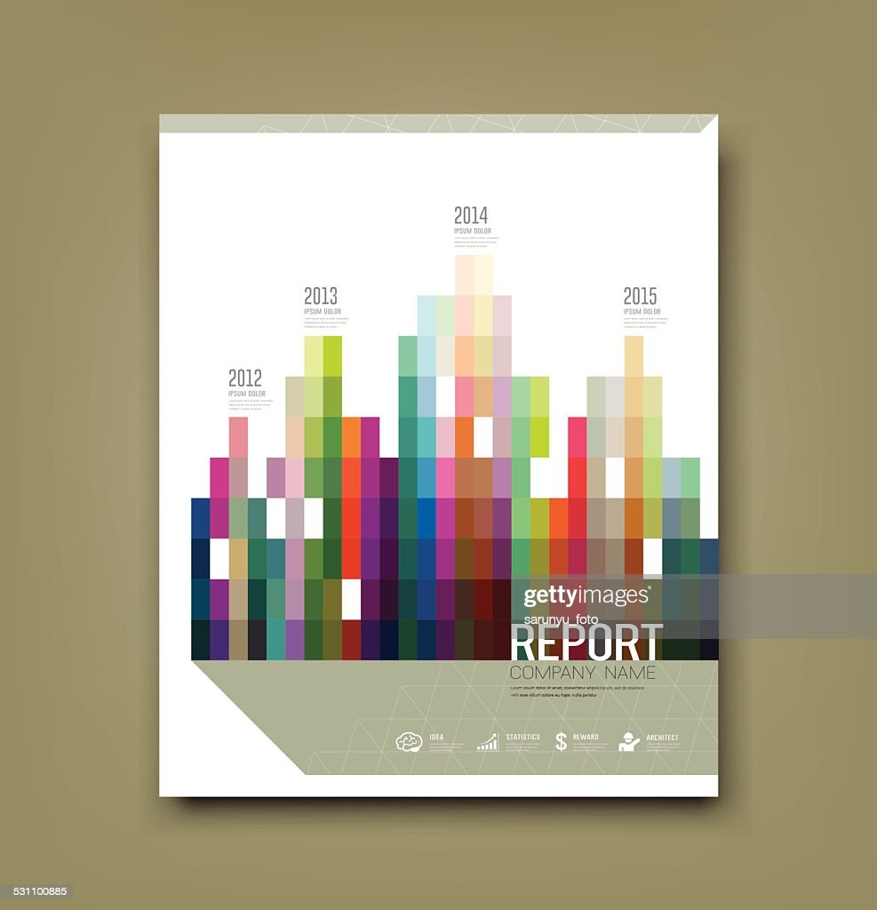 Cover Report colorful geometric building patten statistic concept