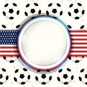 Cover with a soccer ball and the American flag