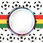 Cover with a soccer ball and the Ghanaian flag