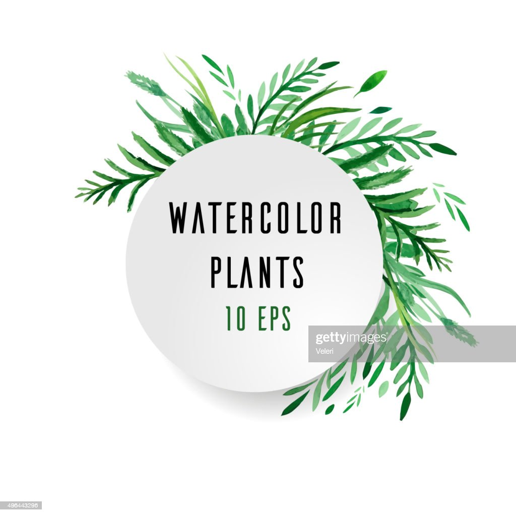 Cover with watercolor plants