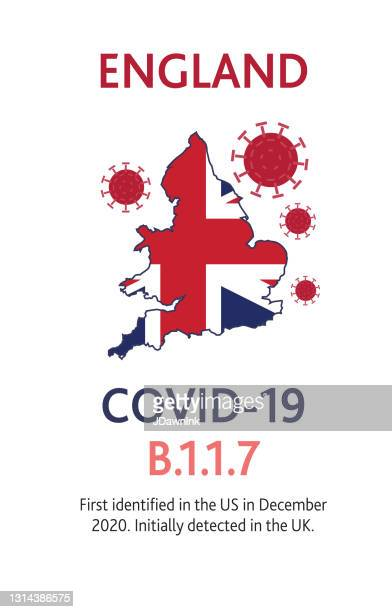 covid-19 b.1.1.7 british variant web banner design template with placement text and origin country of the virus mutation - b117 covid 19 variant stock illustrations