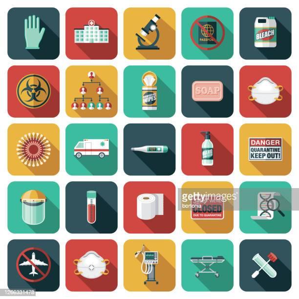 illustrations, cliparts, dessins animés et icônes de ensemble d'icônes coronavirus covid-19 - confinement clip art