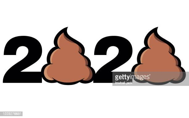 illustrazioni stock, clip art, cartoni animati e icone di tendenza di 2020 covid-19 crisis year - cacca