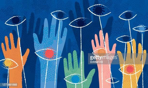 covid-19 fear and stigma concept - psychotherapy stock illustrations