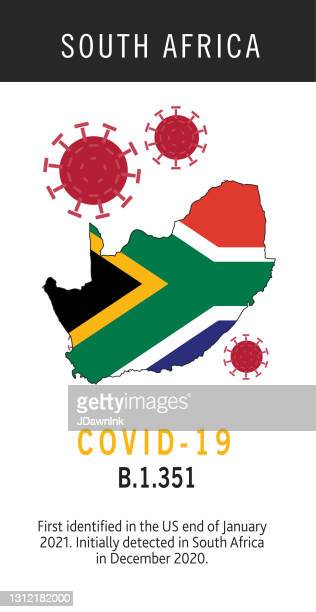 covid-19 south african variant web banner design template with placement text and origin countries of the virus mutation - b117 covid 19 variant stock illustrations