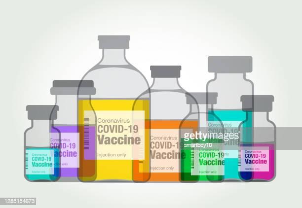 covid-19 vaccine - dose stock illustrations