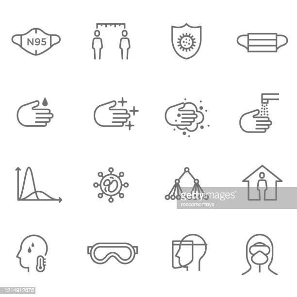 covid-19 - eye protection stock illustrations