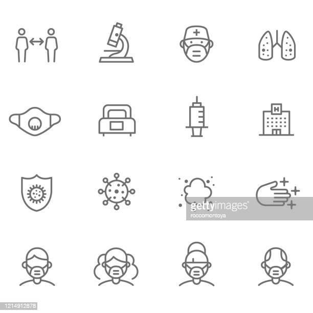 stockillustraties, clipart, cartoons en iconen met covid-19 - prevention