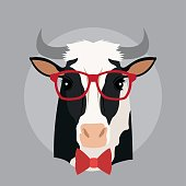 Cow animal hipster style