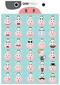 Cow emoji icons