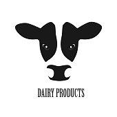Cow face icon vector