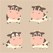 Cow Four poses