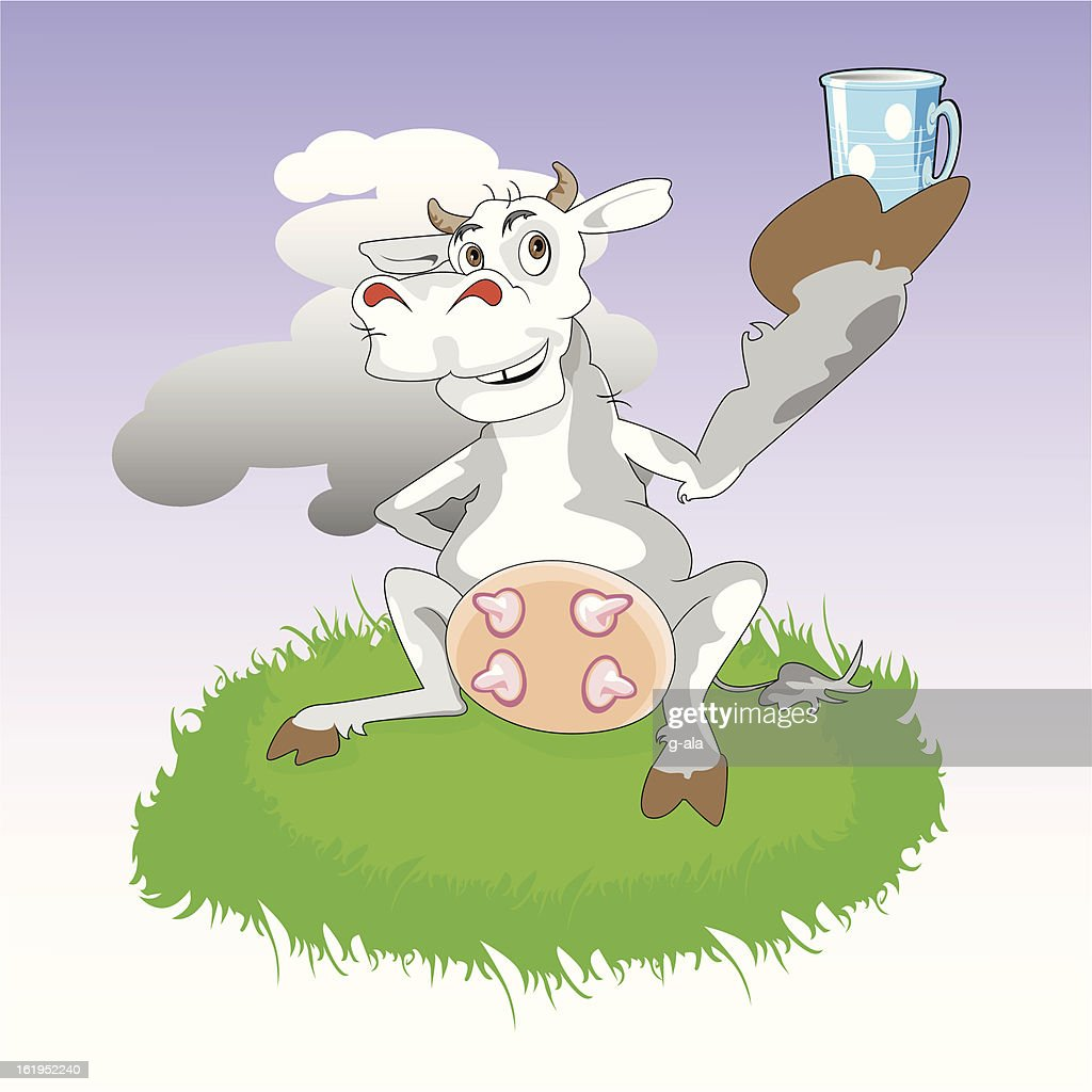 cow gives milk