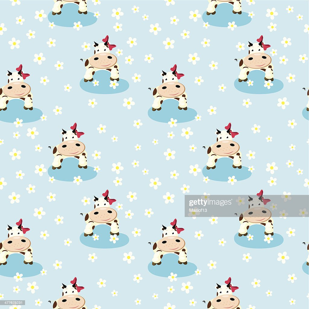 Cow in the clouds pattern