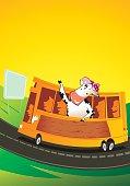 Una vaca de viaje