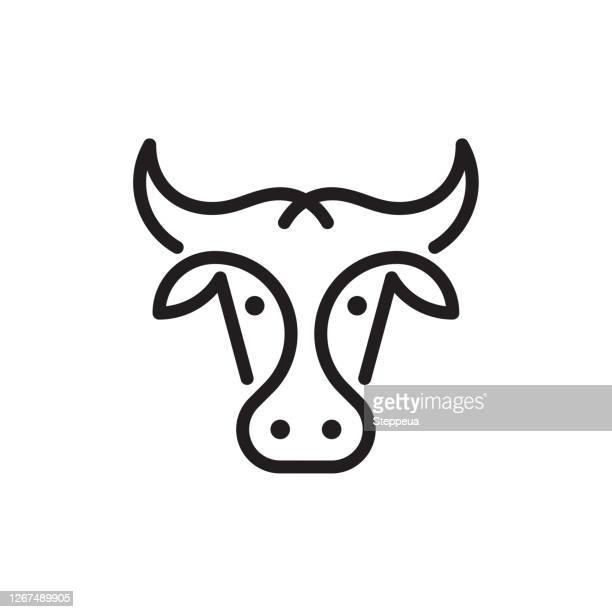 cow or bull logo - male animal stock illustrations
