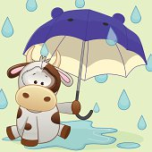 Cow with umbrella