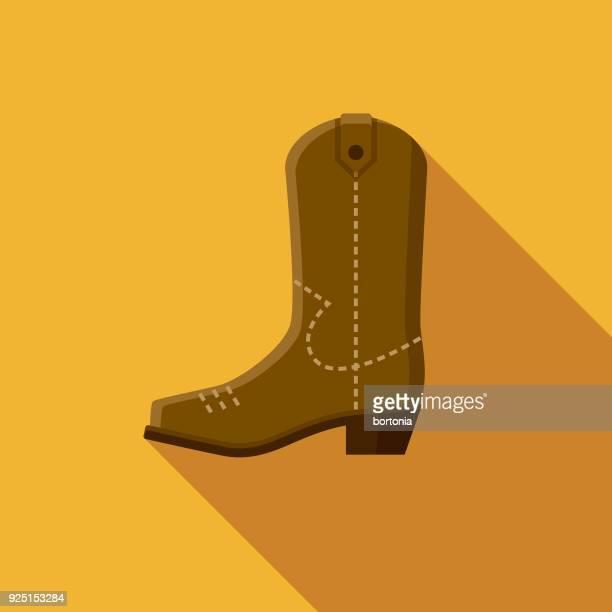 カウボーイ ブーツ フラット デザイン アメリカ アイコン側の影 - カウボーイブーツ点のイラスト素材/クリップアート素材/マンガ素材/アイコン素材