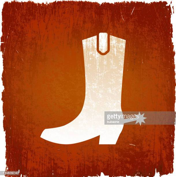 Cowboy boot on royalty free vector Background