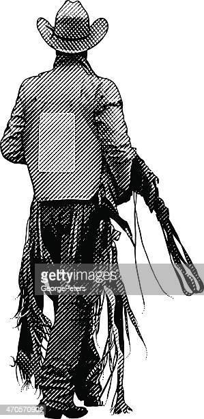 ilustraciones, imágenes clip art, dibujos animados e iconos de stock de vaquero de equipos de transporte - pantalón de cuero