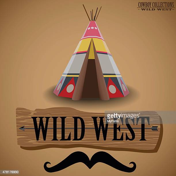 cowboy collections - the pavilion,camp. - apache culture stock illustrations, clip art, cartoons, & icons