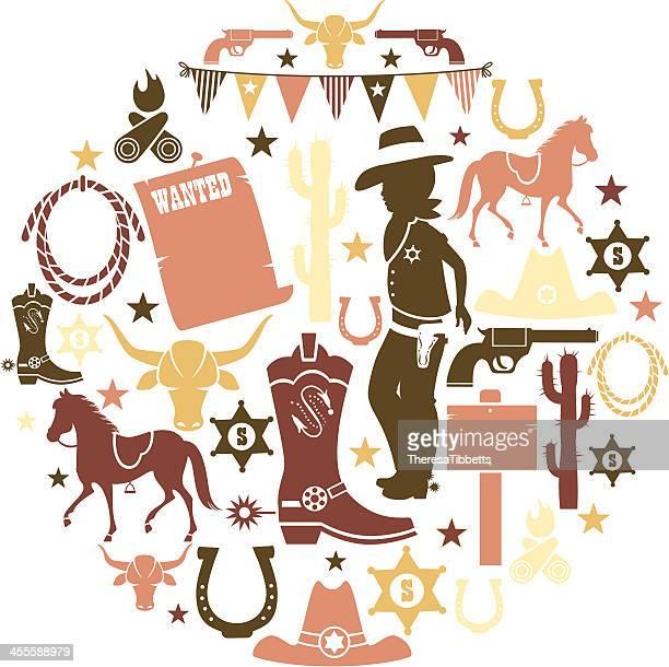 Cowboy Icon Set