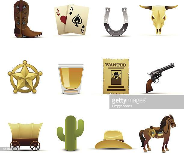cowboy icons - shot glass stock illustrations, clip art, cartoons, & icons