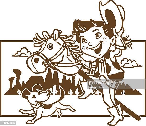 Cowboy Kid Coloring Page