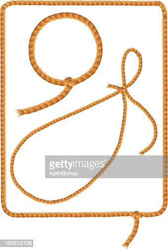 Cowboy Lasso Rope Frames Vector Art | Getty Images