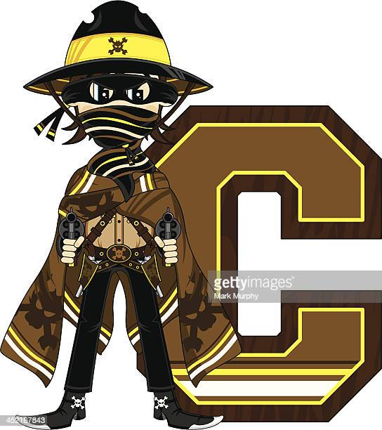 Cowboy Outlaw Learning Letter C