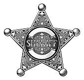 Cowboy Sheriff Star Badge