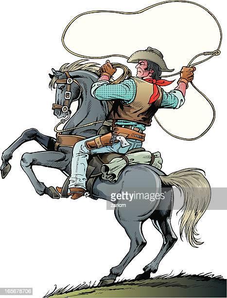 cowboy - cowboy stock illustrations, clip art, cartoons, & icons