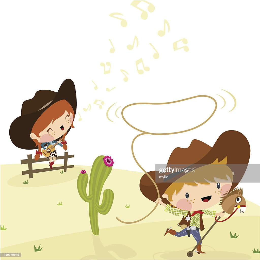 Cowboys, Illustration, Vector.