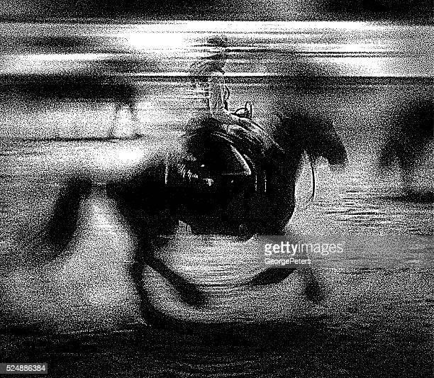 Cowgirl Reiten Pferd