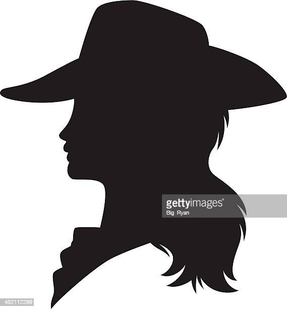 cowgirl silhouette - cowboy hat stock illustrations, clip art, cartoons, & icons