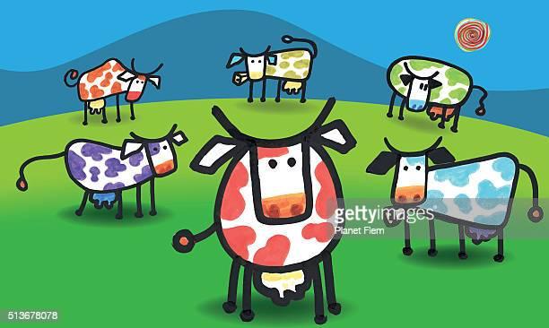 cows - looking at camera stock illustrations, clip art, cartoons, & icons