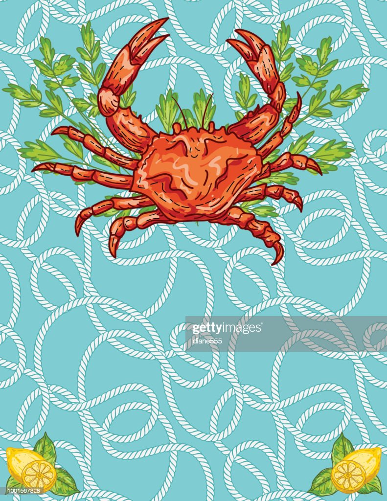 crab boil invitation template vector art getty images